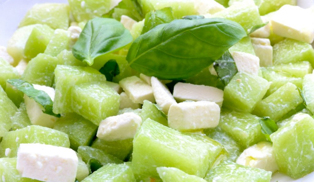 meloensalade feta basilicum olijfolie